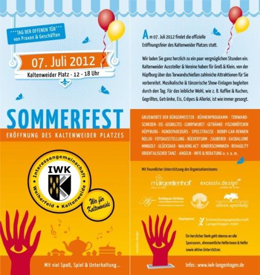 Flyer Sommerfest IWK 2012